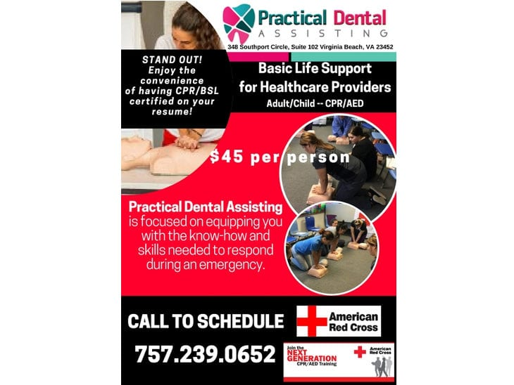 Bslcpraed Training Is Back Practical Dental Assisting